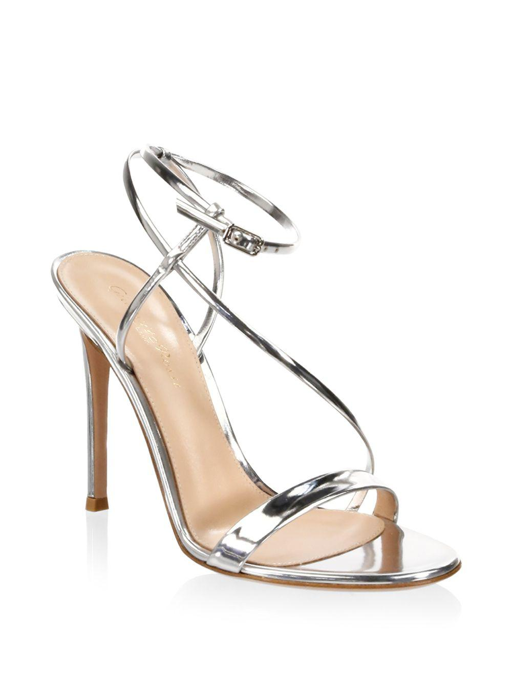 707d659c5b2 Gianvito Rossi Metallic Ankle-strap Sandals in Metallic - Save 29 ...
