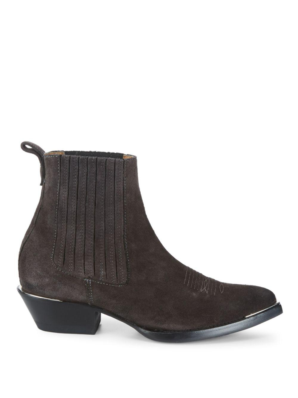 706376d2191 Ash Texas Leather Ankle Boots in Brown - Lyst
