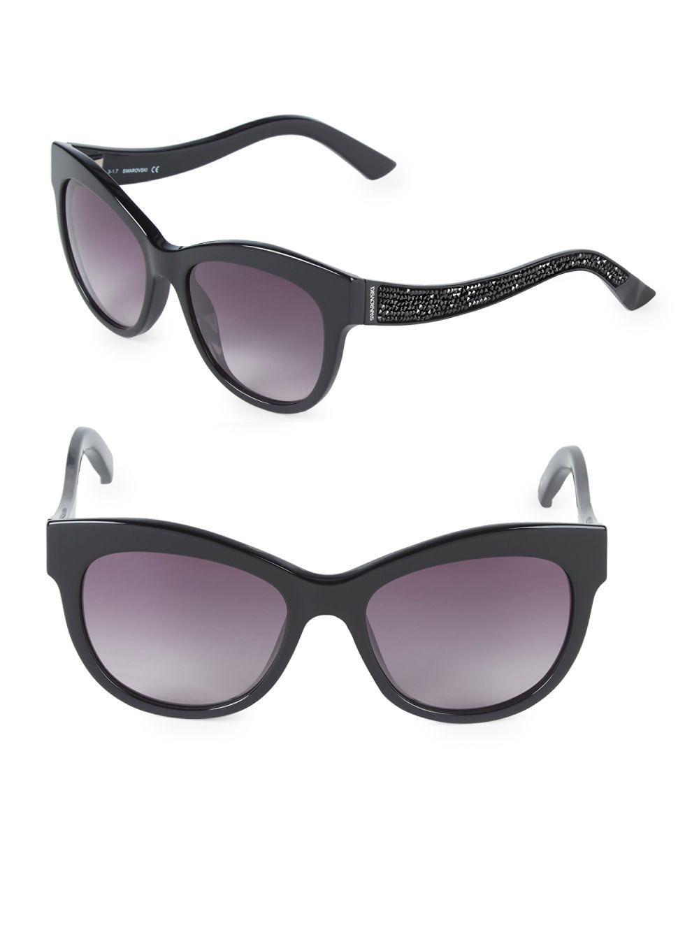 ac48e652ae96df Swarovski 54mm Square Sunglasses in Black - Lyst