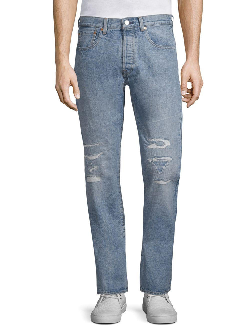 6d16f12822f Levi's 501 Tapered Jeans in Blue for Men - Save 2% - Lyst