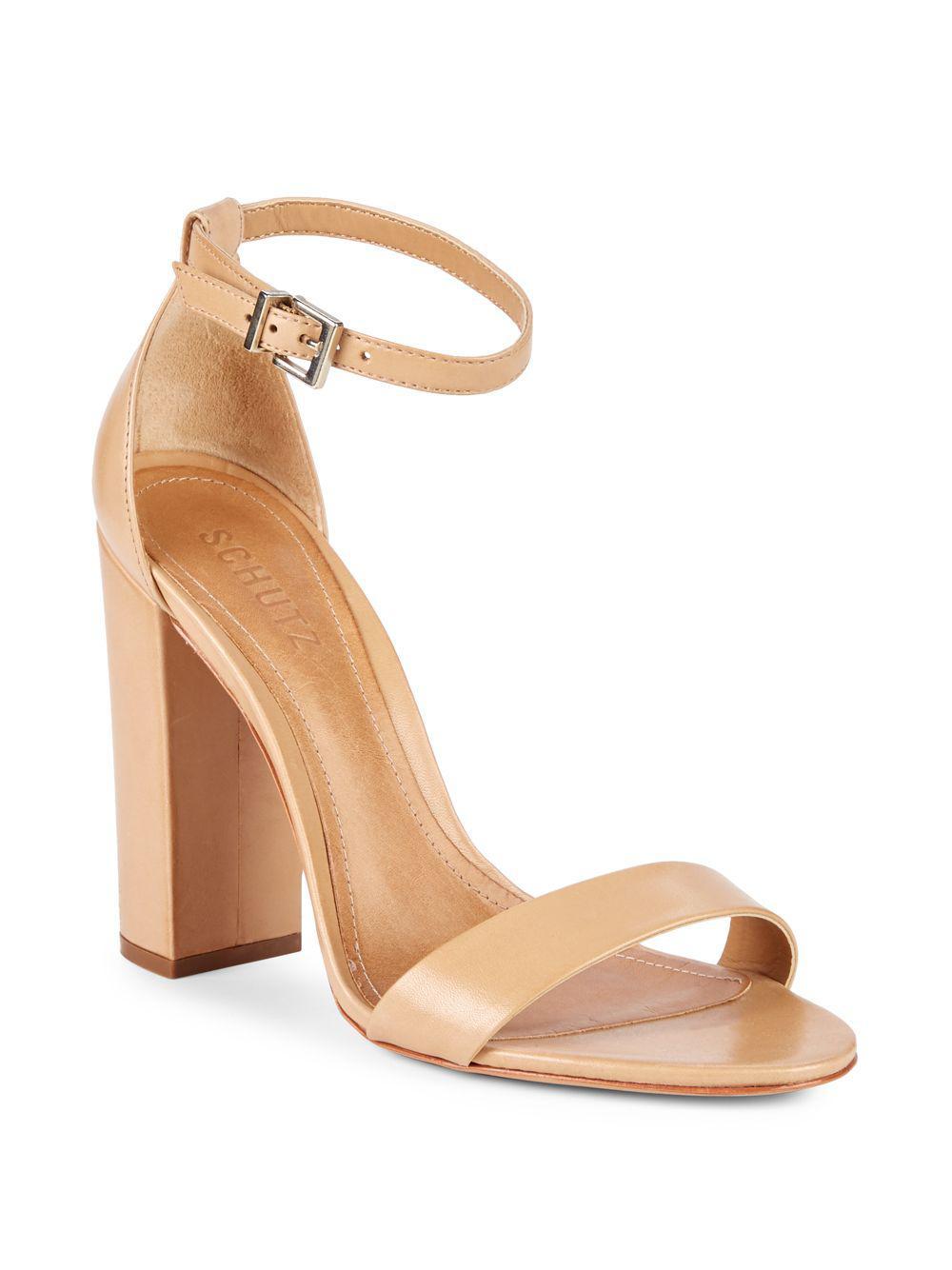 Schutz Women's Enida Suede Block Heel Ankle Strap Sandals y0qBkh6rrz