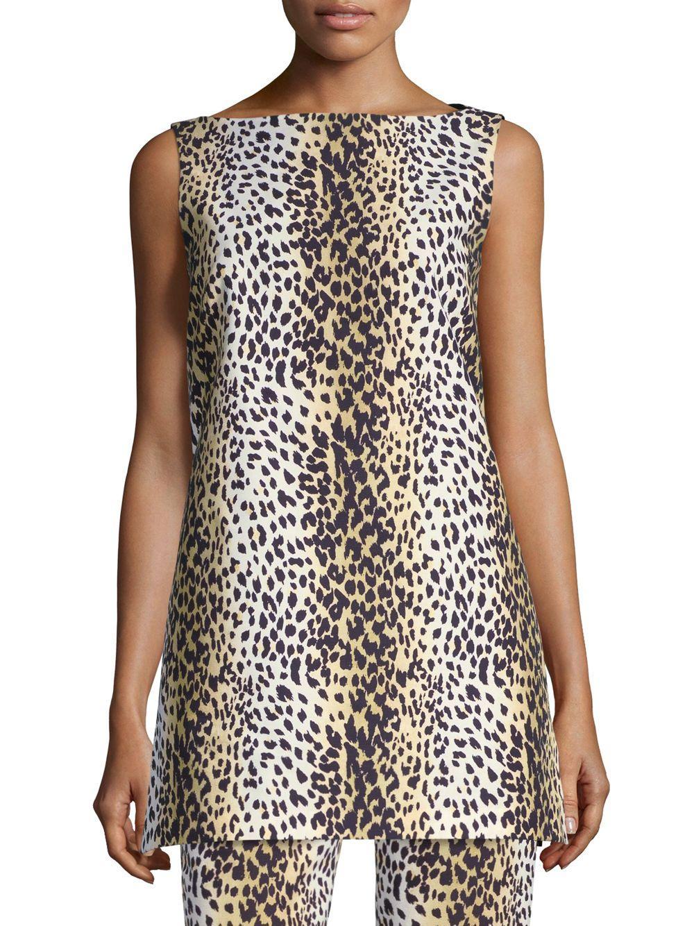 5c5b559c3338d Max mara cheetah print top in natural lyst jpg 1000x1334 Cheetah print top