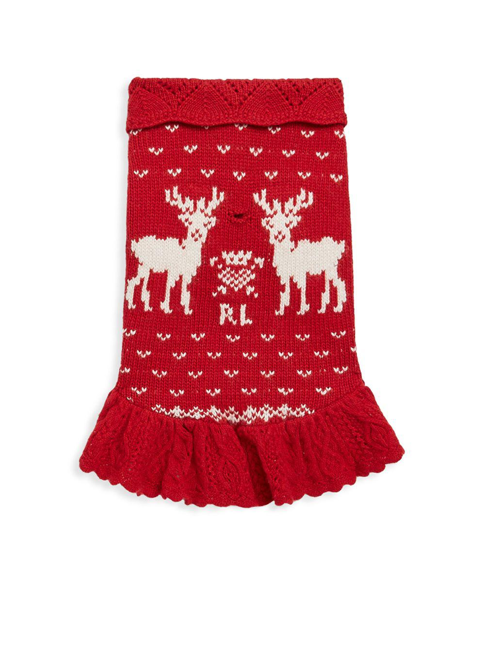 Lyst Polo Ralph Lauren Reindeer Dog Sweater In Red