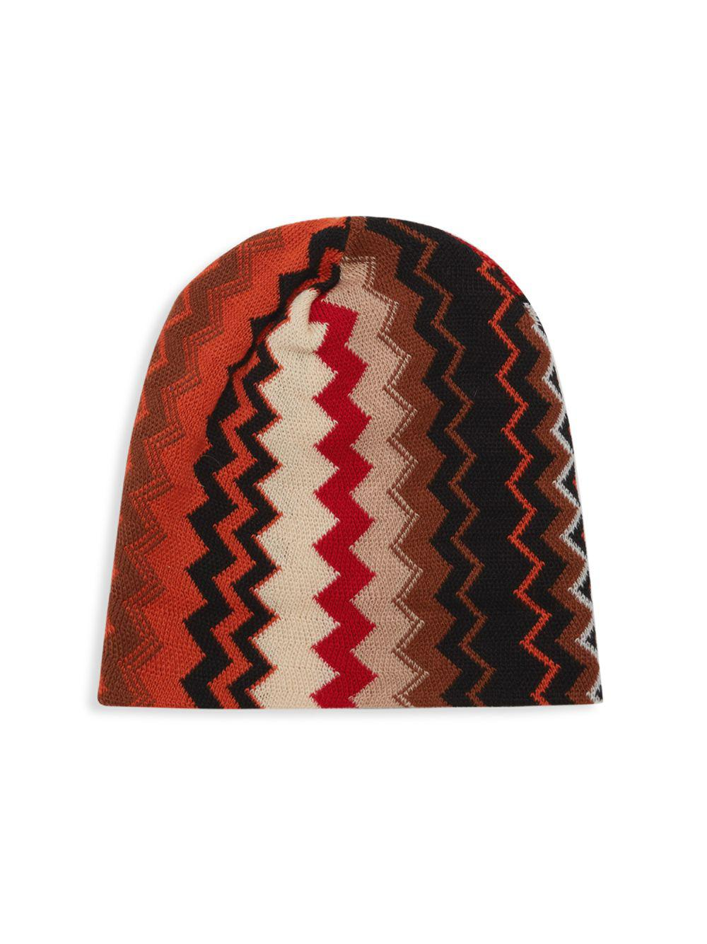 Lyst - Missoni Chevron Knit Beanie in Red for Men cc45cec32cbd