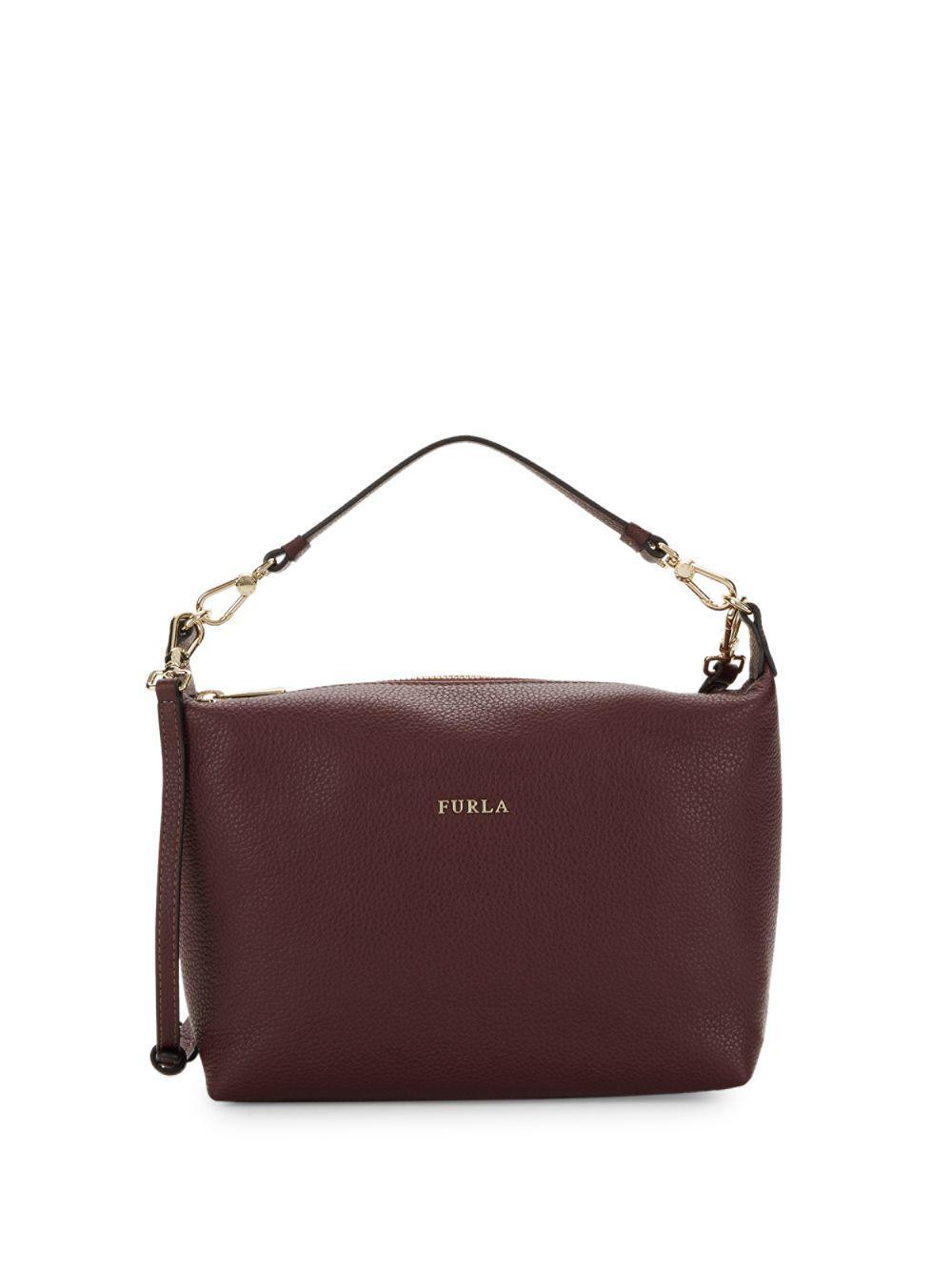2577cea6f369 Furla - Purple Textured Leather Case Crossbody Bag - Lyst. View fullscreen
