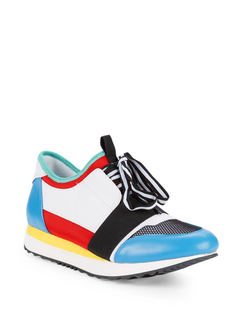 a388e57b90d Steve Madden Kacie Colorblock Sneakers in Blue - Lyst