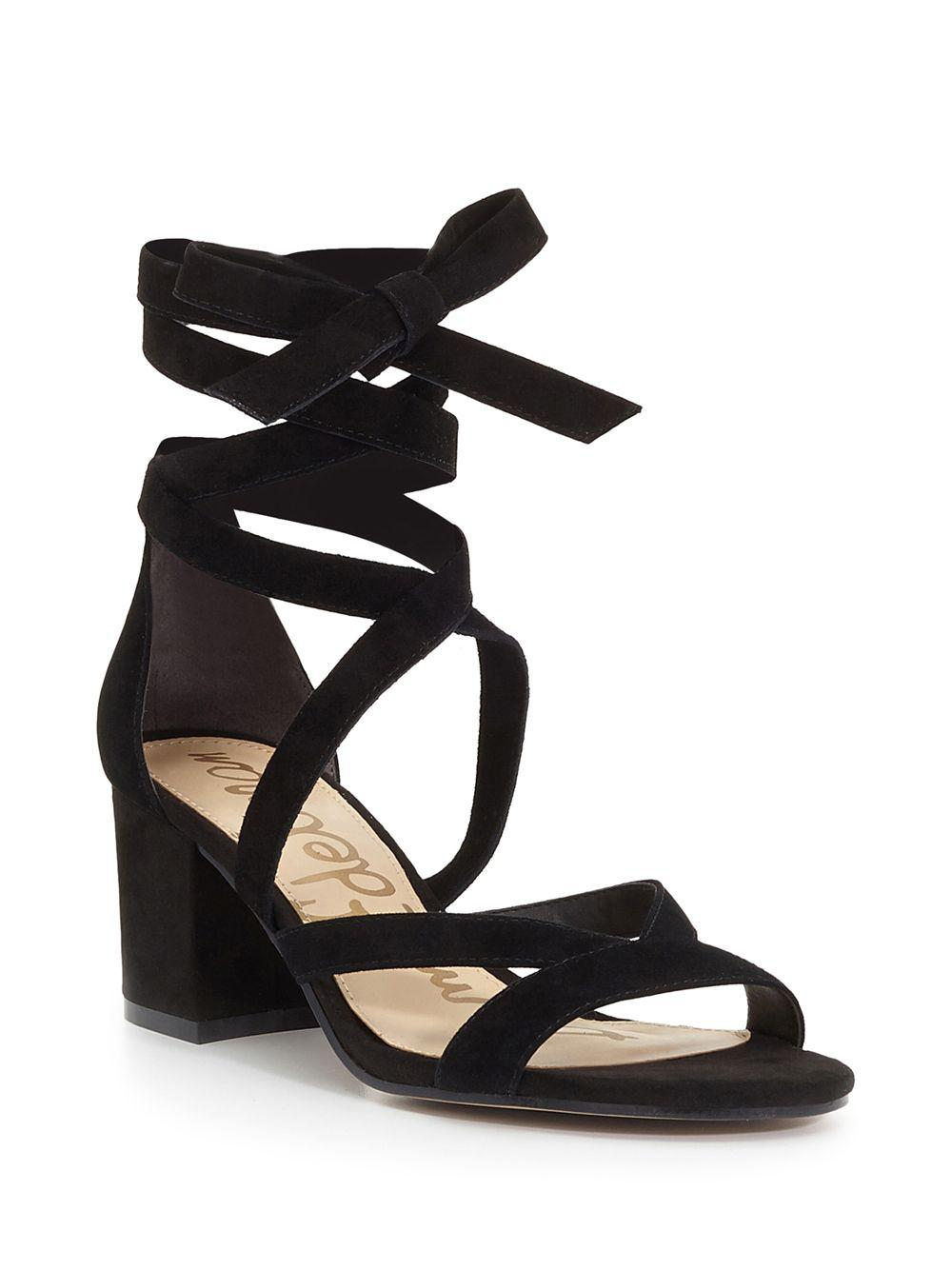 daf5509decb Lyst - Sam Edelman Sheri Suede Block Heel Sandals in Black