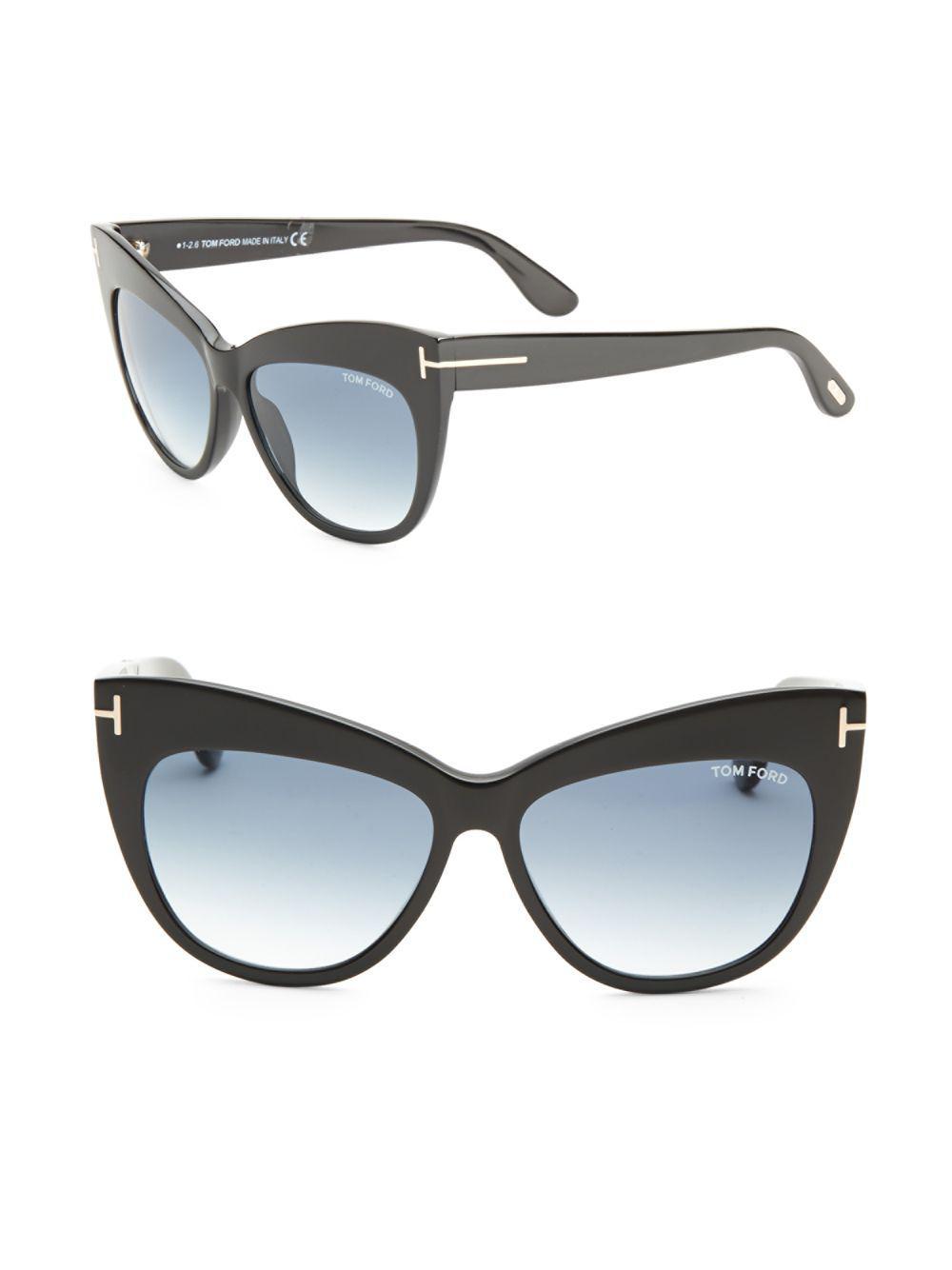 b63278f980a Tom Ford - Black Nika 56mm Cat Eye Sunglasses - Lyst. View fullscreen