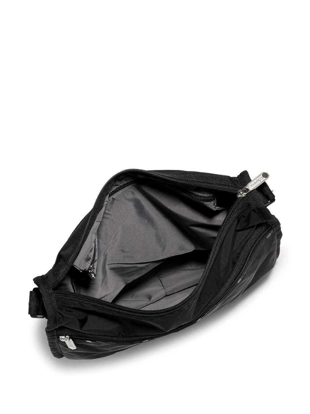 Lesportsac Black Nylon Messenger Bag Lyst View Fullscreen