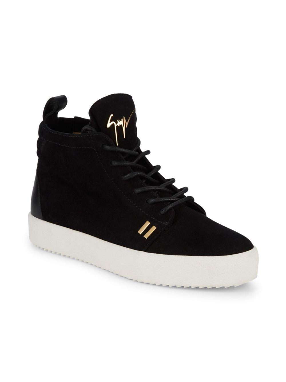 9a93a83855c Lyst - Giuseppe Zanotti Classic Suede High-top Sneakers in Black for Men