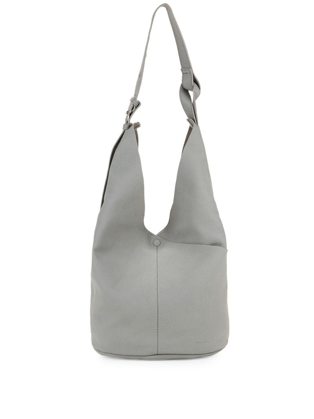 7bd64aaa46b Steven Alan Etta Leather Hobo Bag in Gray - Lyst