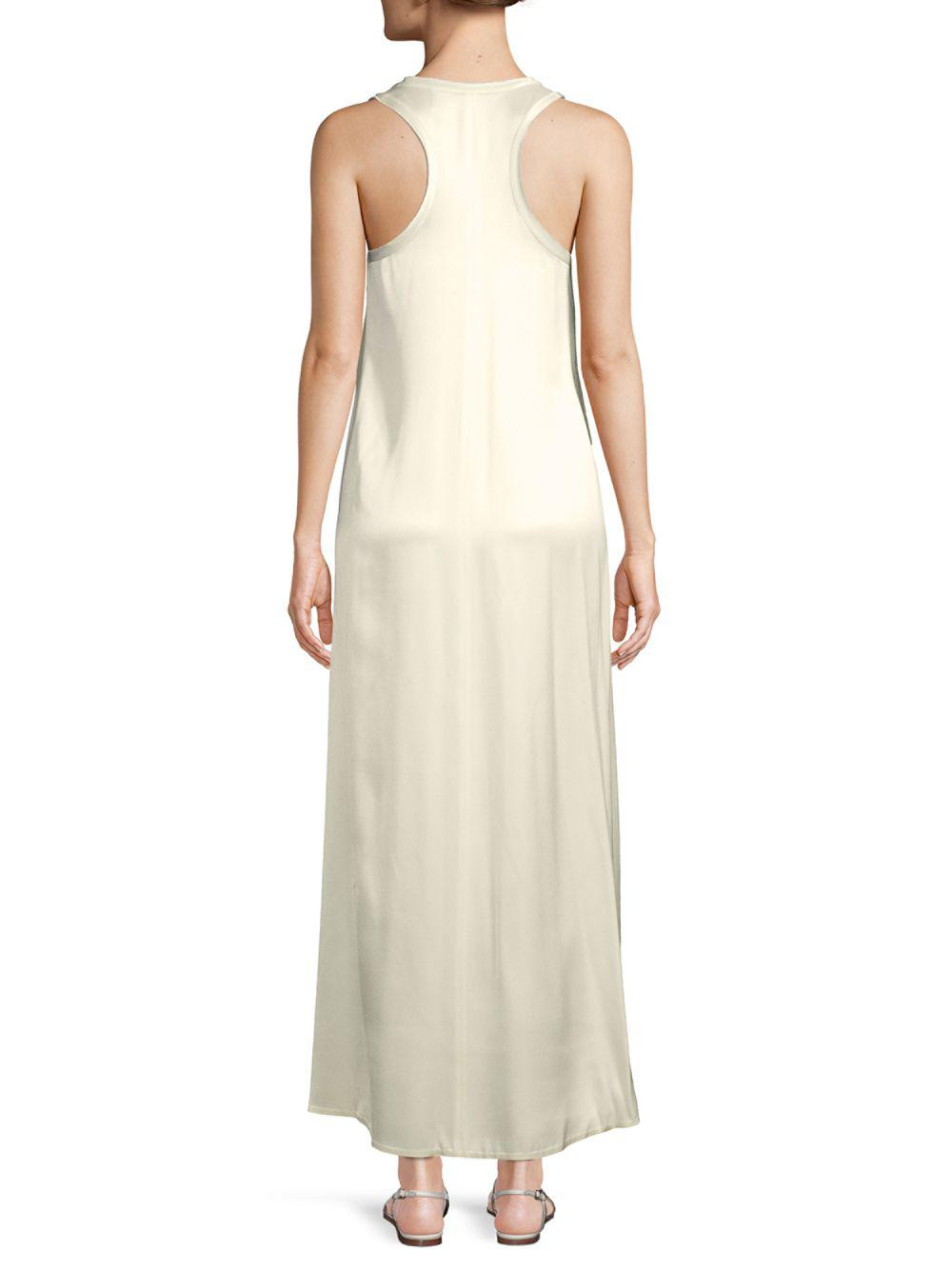 White Satin Tank Dress