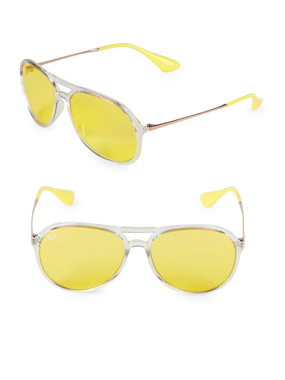 1440eaf02f Lyst - Ray-Ban 59mm Alex Pilot Sunglasses in Yellow