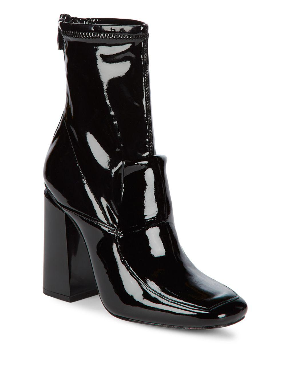 Sigerson Morrison. Women's Black Joanna Patent Leather Sock Boots