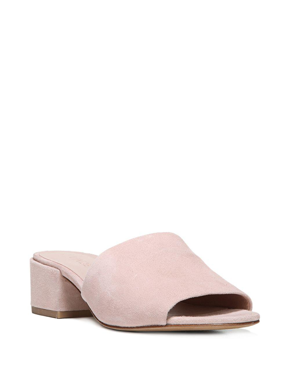 fbb7ed46d48 Lyst - Vince Rachelle Suede Slide in Pink - Save 54.0%