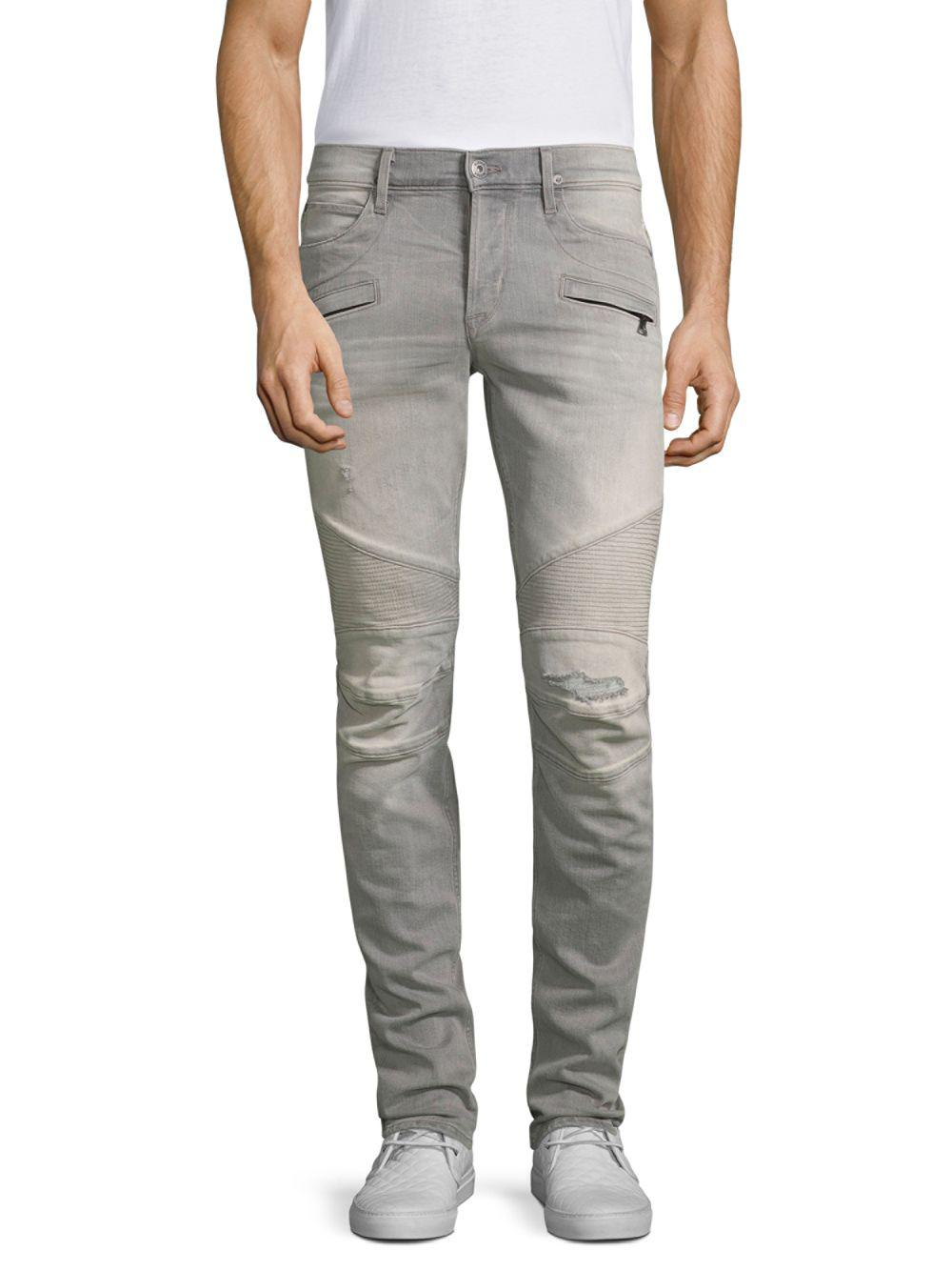 173dfaeae85 Hudson Jeans Blinder Biker Skinny Jeans in Gray for Men - Lyst
