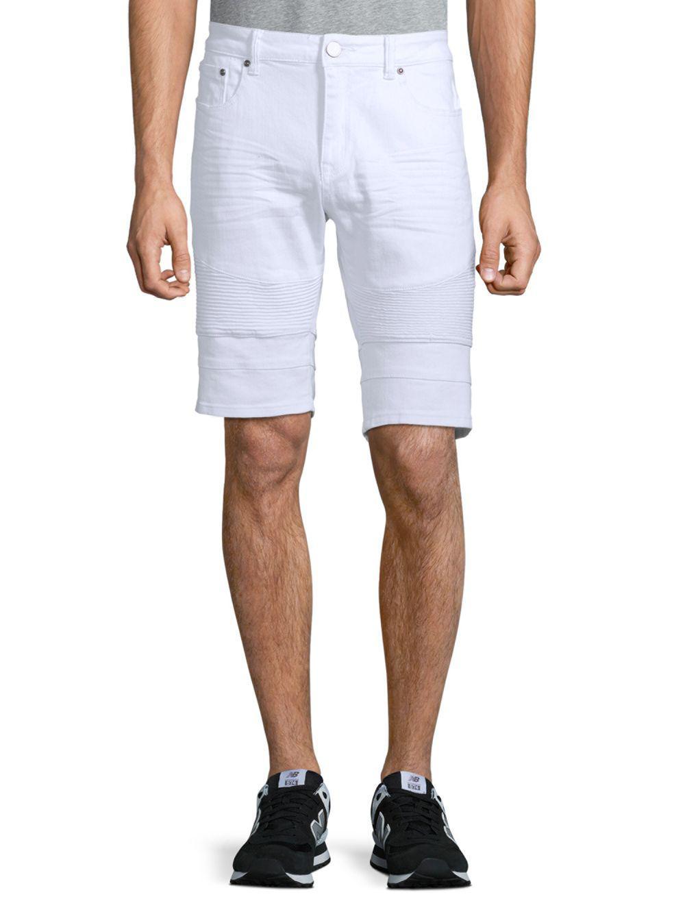d414d2363b Lyst - Xray Jeans Moto Denim Shorts in White for Men