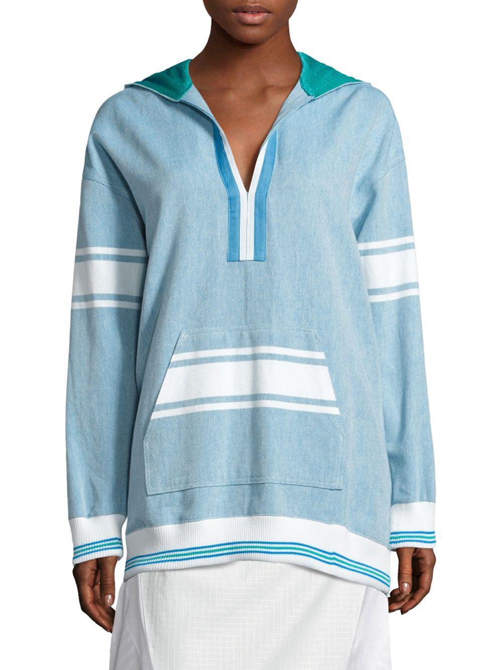 11862d162a Koza - Blue Baja Striped Hoodie - Lyst. View fullscreen
