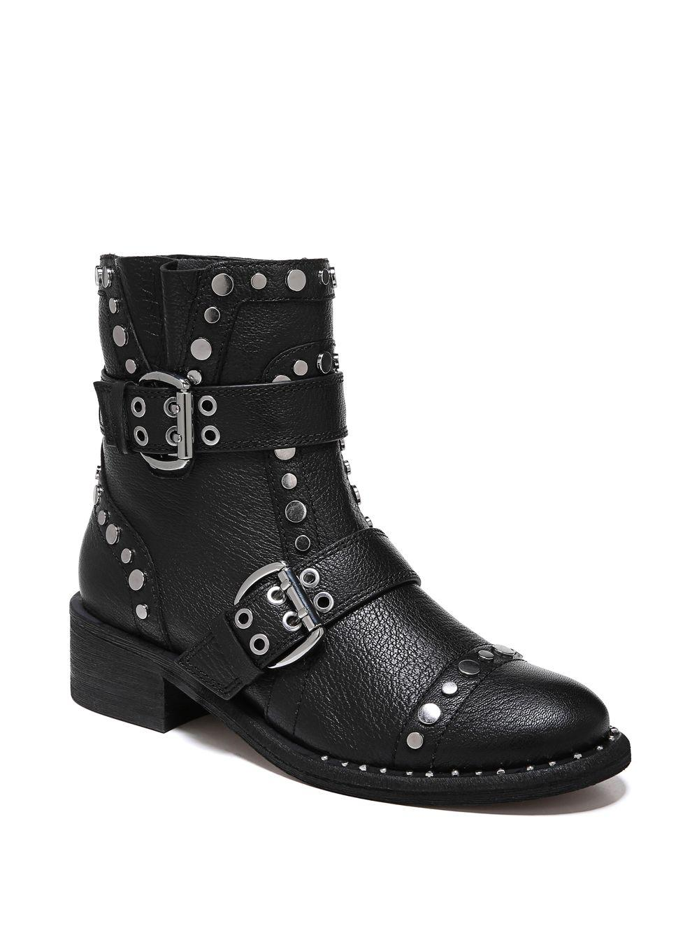 36959c3d3 Sam Edelman Drea Studded Leather Ankle Boots in Black - Save 68% - Lyst