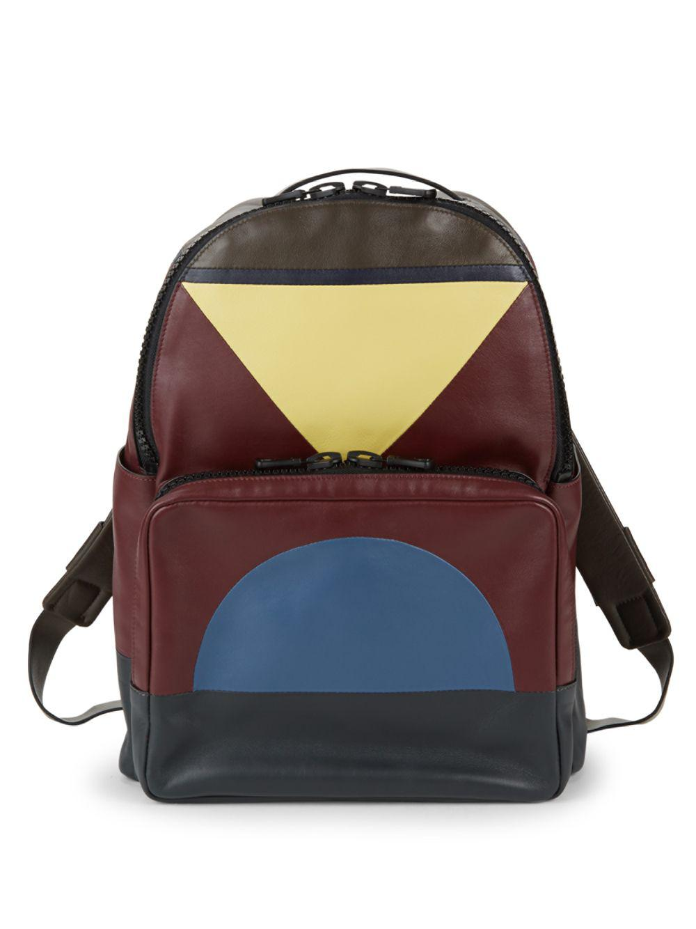 586b1803a8 Lyst - Valentino Geometric Leather Backpack for Men