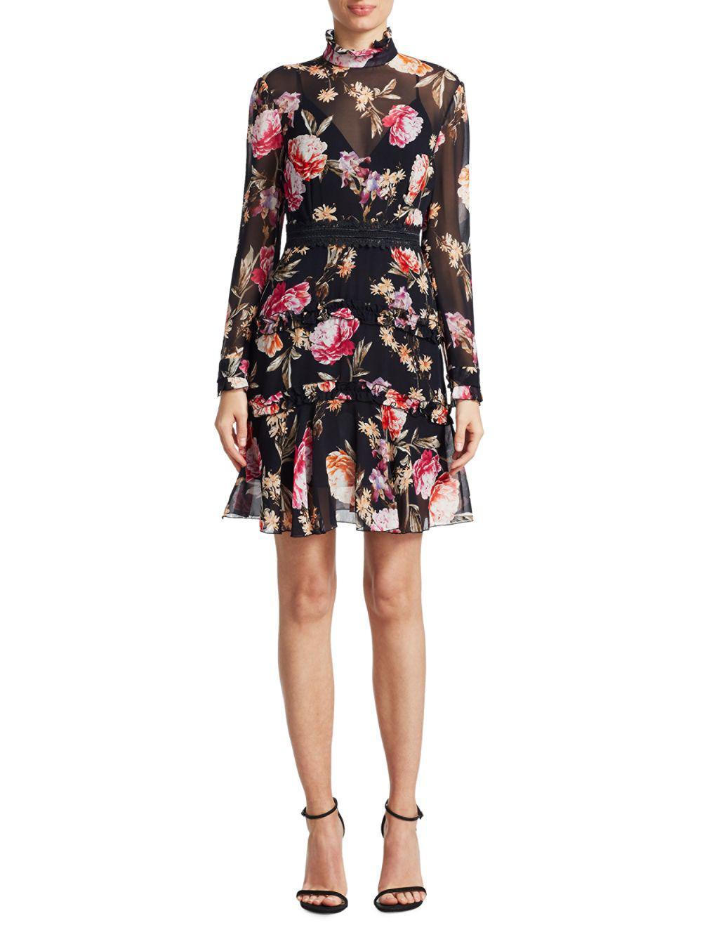3c446ff9de Nicholas Lucile Silk Blouson Dress in Black - Lyst