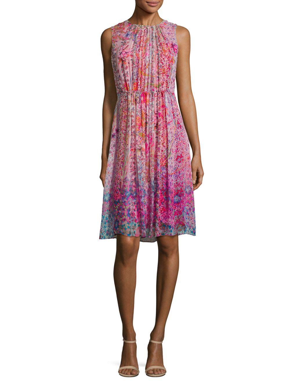 efa82d30a0d7 Lyst - Elie Tahari Demetria Silk Dress