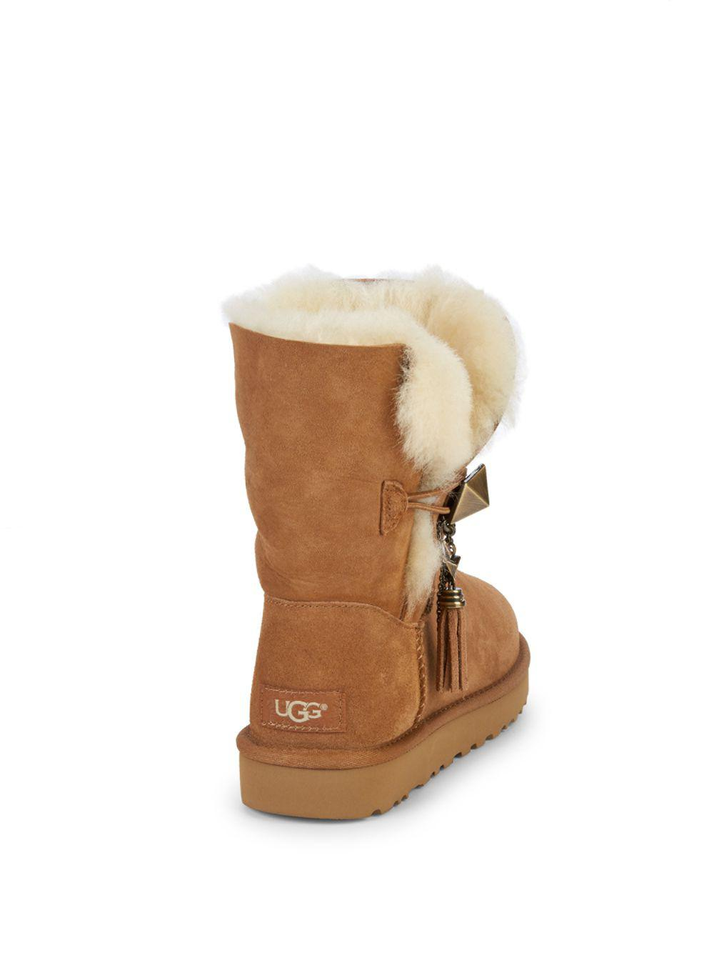 2c8334d80e1 Ugg - Brown Lilou Shearling-lined Suede Boots - Lyst