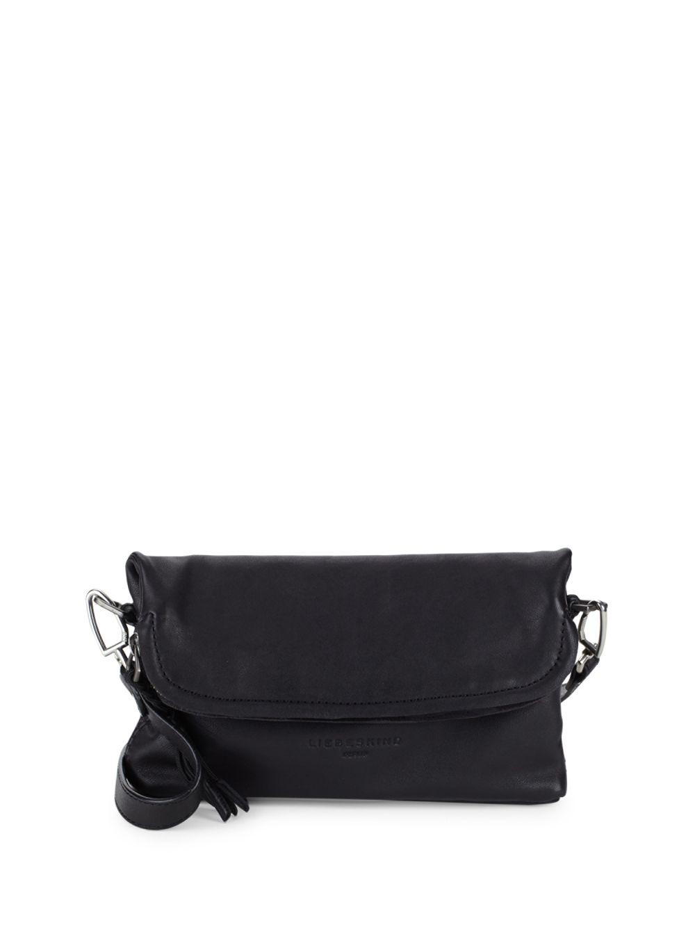 514f98f9e544 Lyst - Liebeskind Berlin Leather Shoulder Bag in Black
