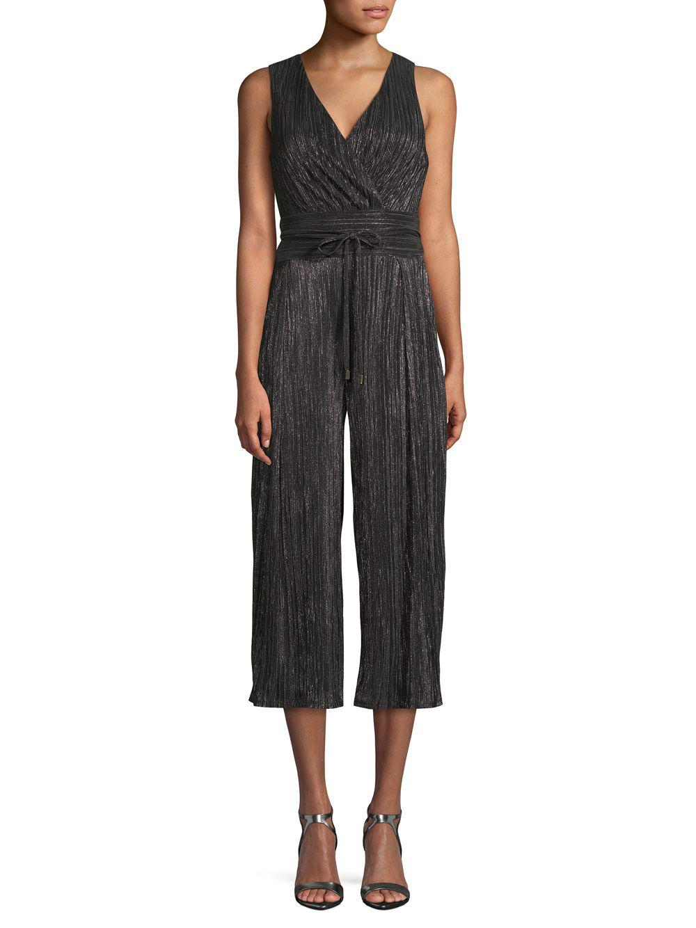 b6bfb49fd080 Lyst - RACHEL Rachel Roy Ambra Pleated Jumpsuit in Black - Save 51%