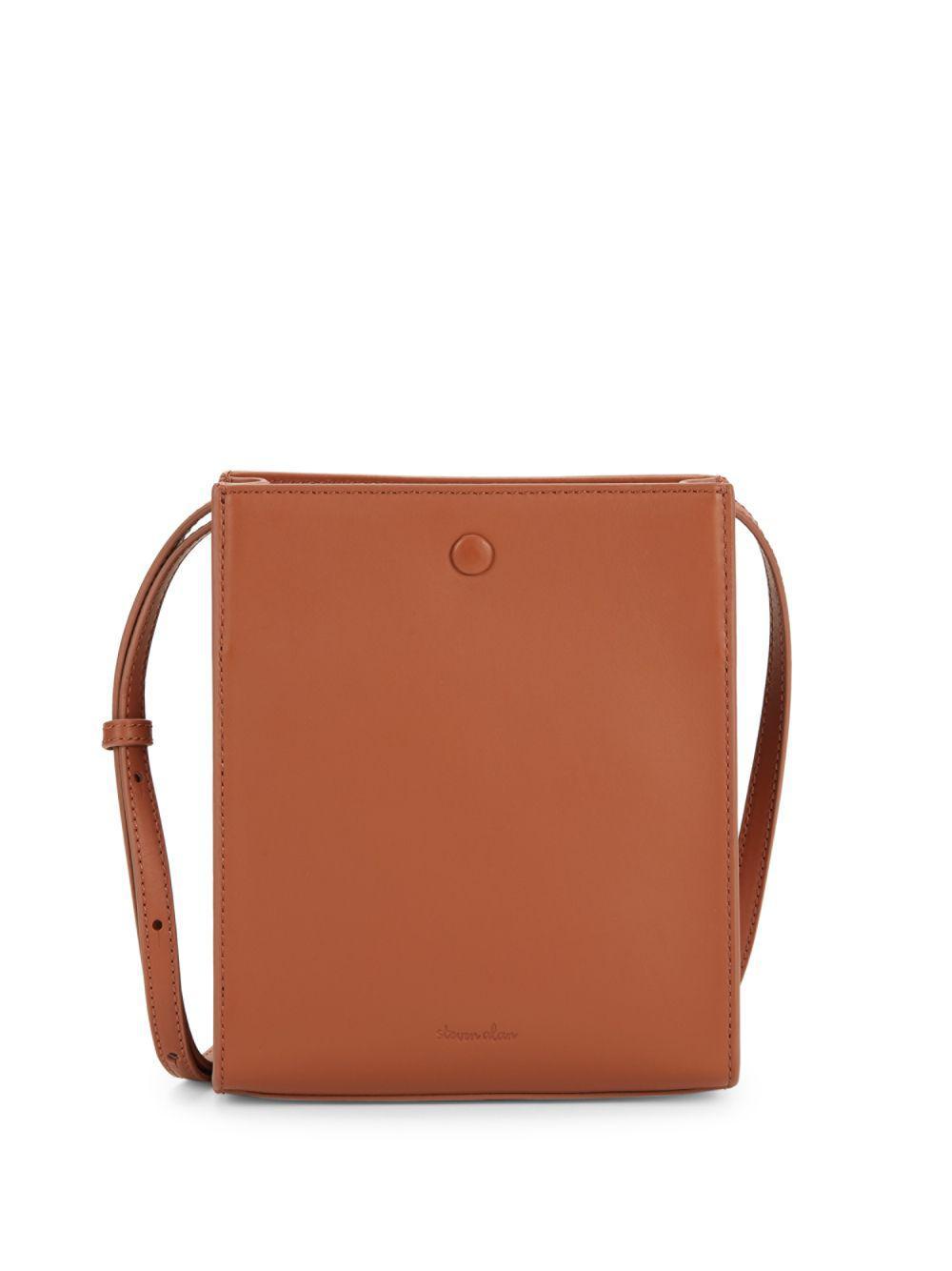 ec0b3447511 Steven Alan Camden Metallic Leather Crossbody Bag in Brown - Lyst