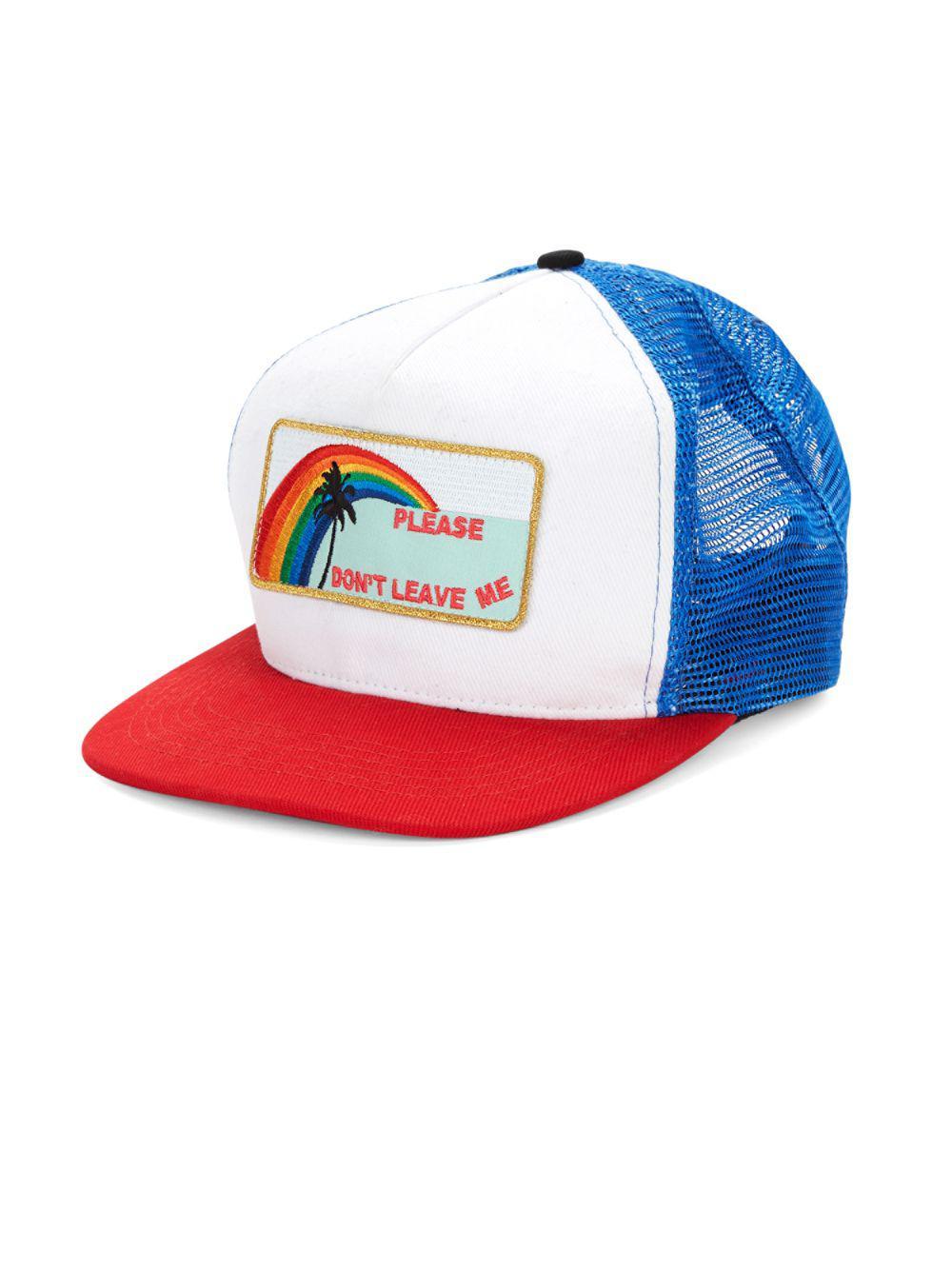 4cf1f2aedd600 Saint Laurent Please Don t Leave Me Trucker Hat in Blue for Men - Lyst
