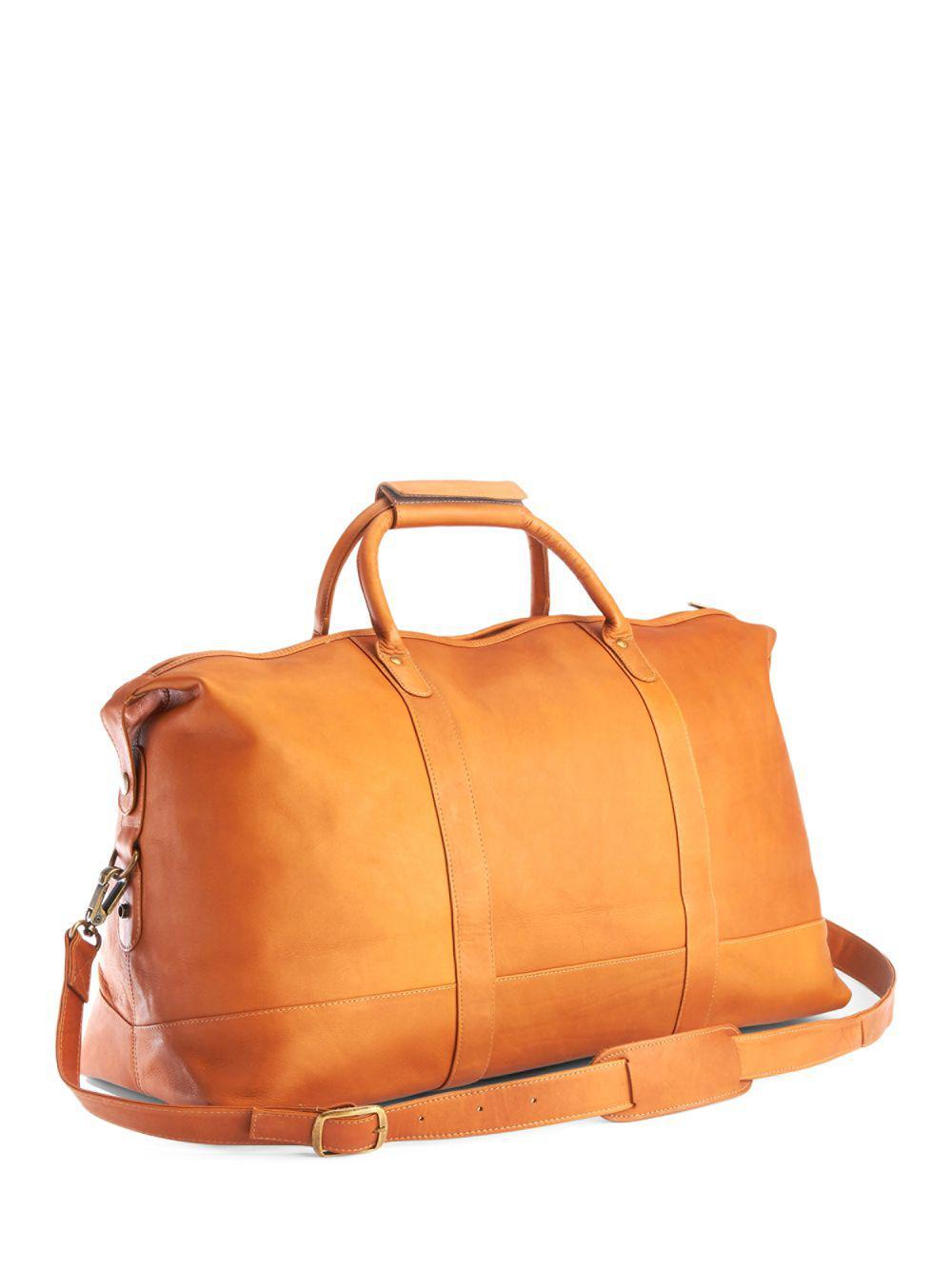 Lyst - Royce New York Columbian Leather Luxury Weekender Duffel Bag ... db784cd8740b2