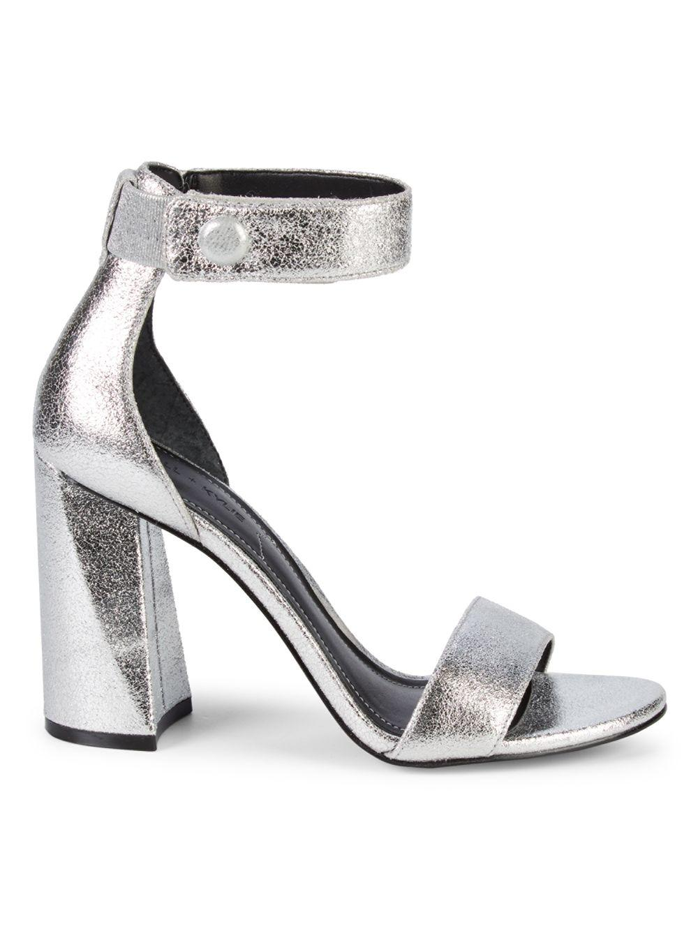 37bfb76c026 Lyst - Kendall + Kylie Jewel Heeled Sandals in Metallic