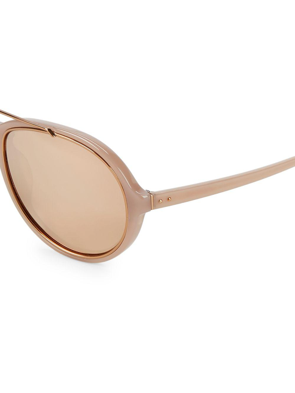 17bee03e0cc Linda Farrow 59mm Oval Sunglasses - Lyst