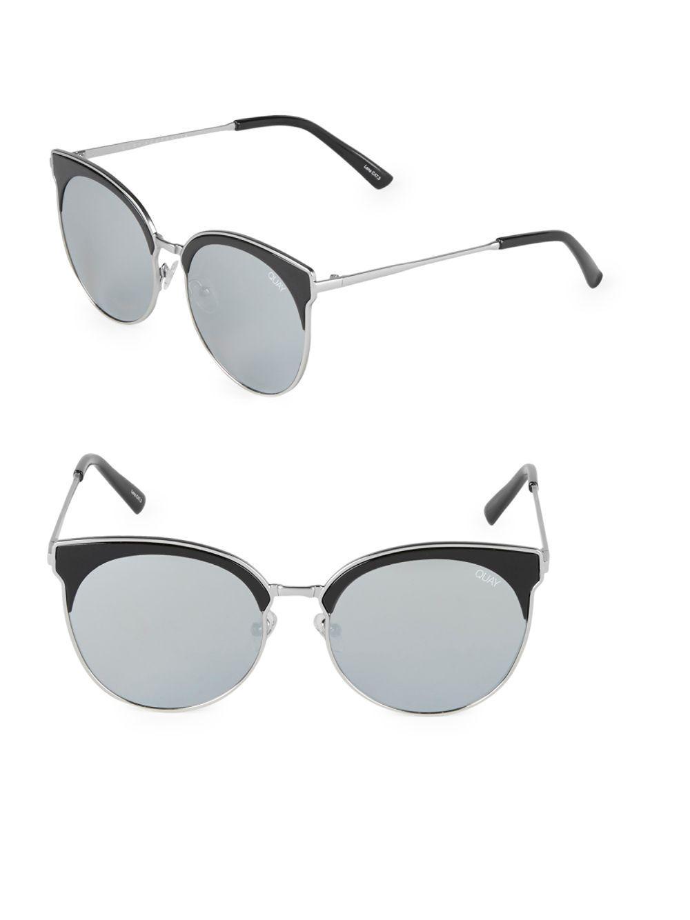 830ef554b7 Quay Mia Bella 57mm Clubmaster Sunglasses in Metallic - Lyst