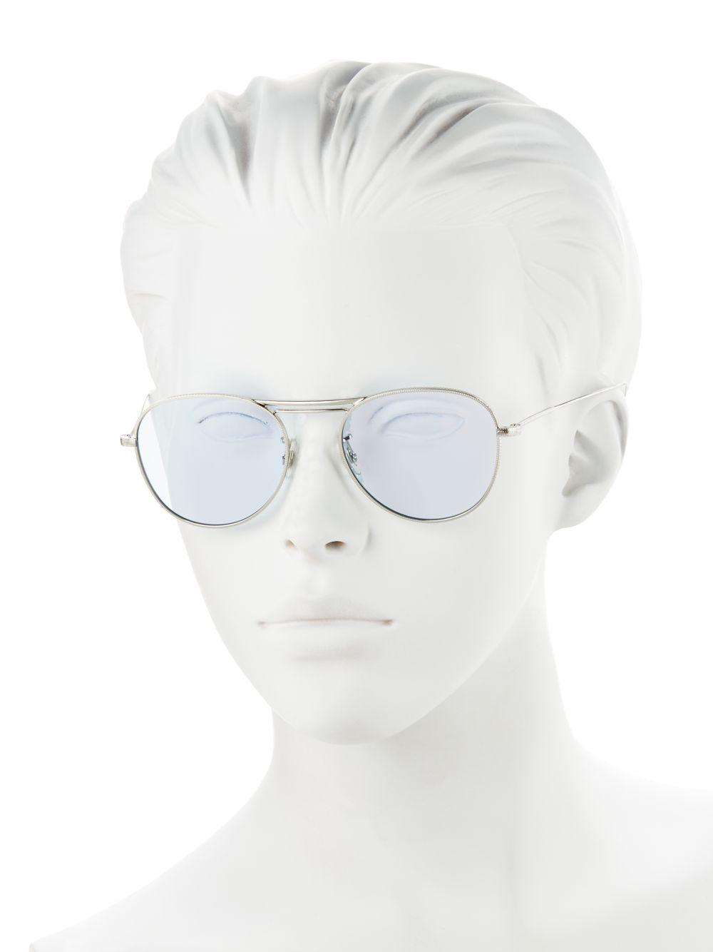 68e95c287ae Oliver Peoples - Blue Cade 52mm Aviator Sunglasses for Men - Lyst. View  fullscreen