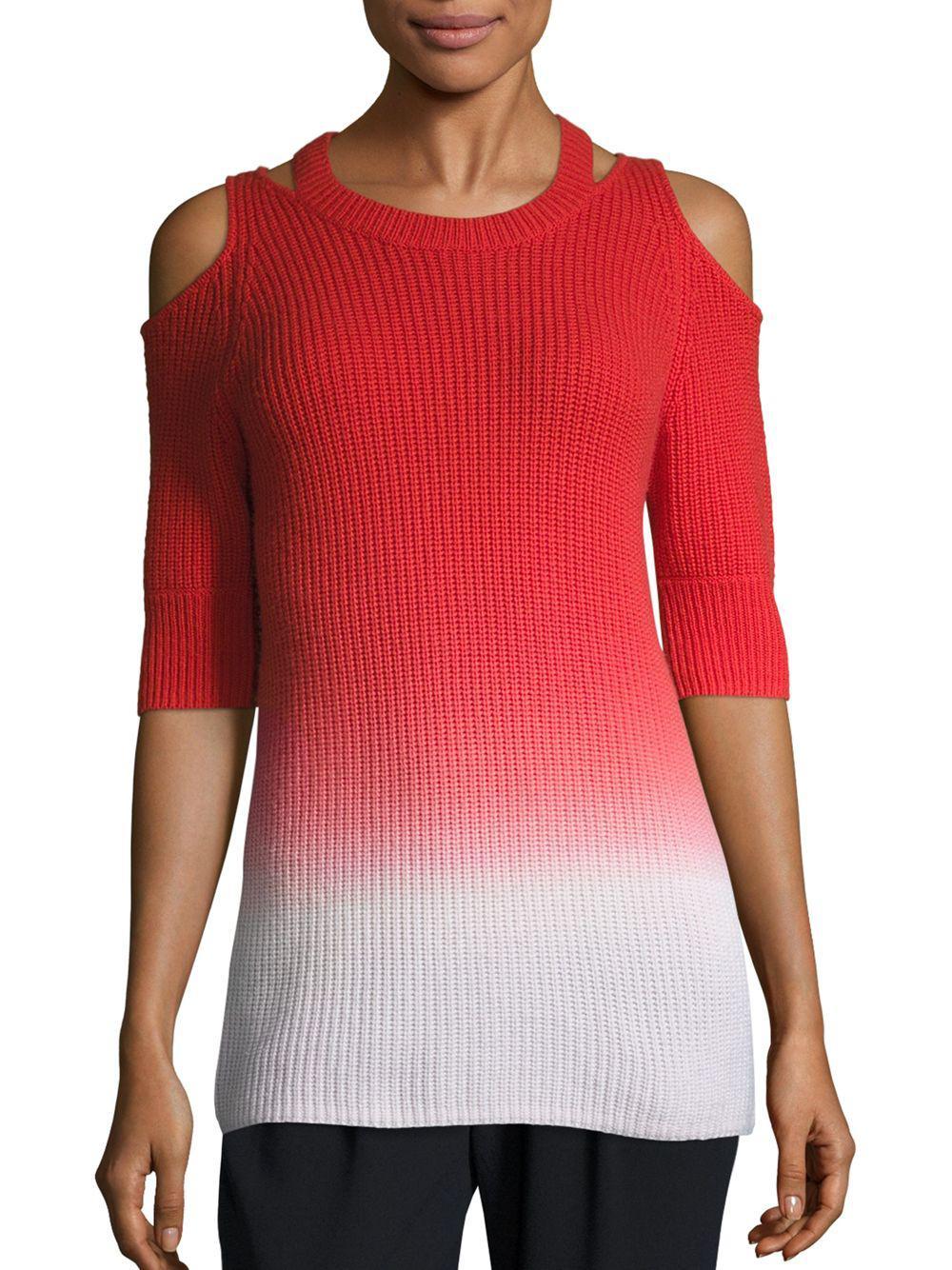 a7200891b297 Lyst - Zoe Jordan Aristotle Ombre Cold-shoulder Sweater - Save 58%