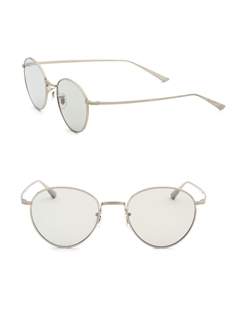 60236eaecb4 Oliver Peoples Brownstone 2 49mm Round Sunglasses in Metallic - Save ...