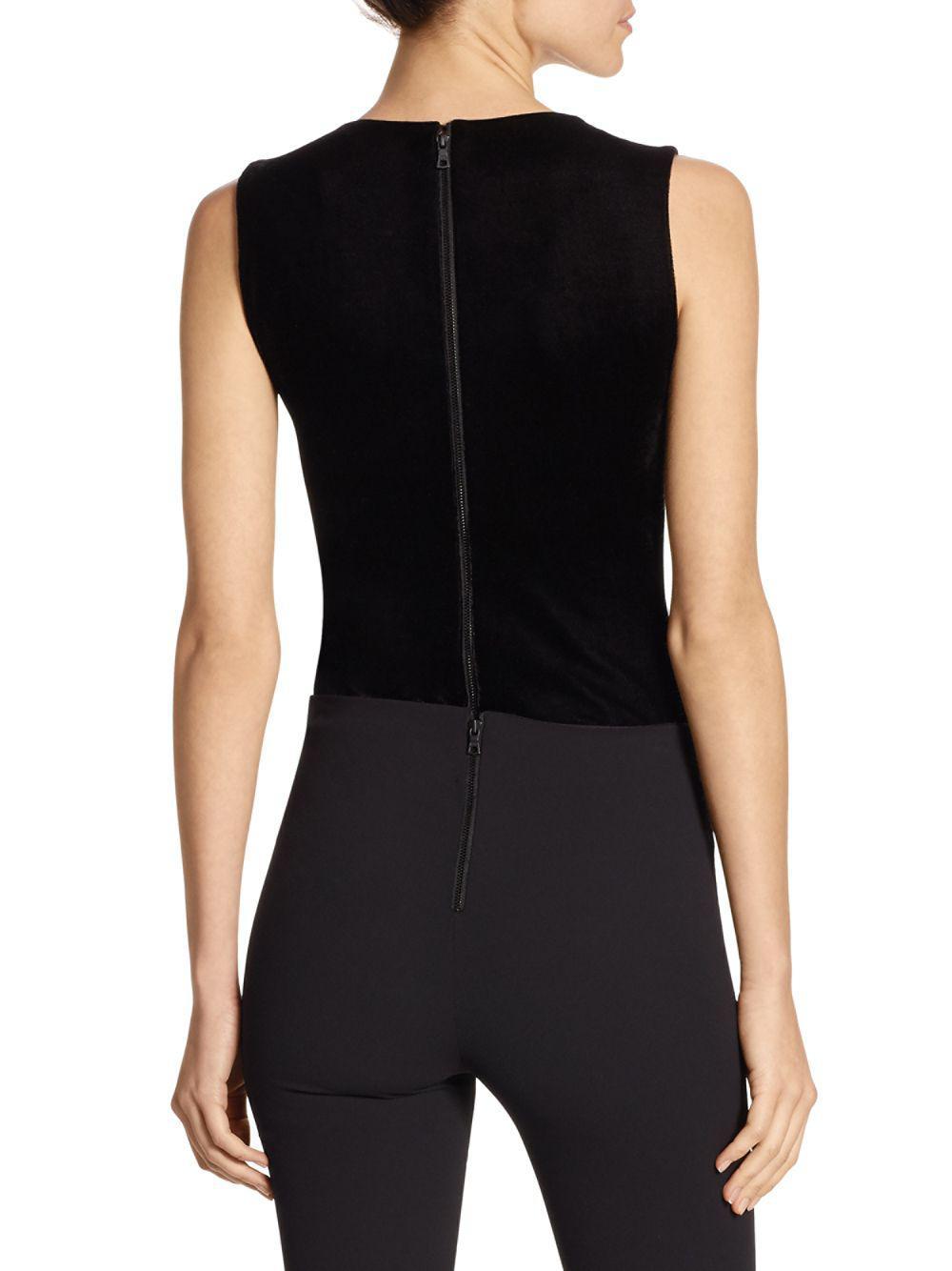 6631615e64ed7 Lyst - Alice + Olivia Marley V-neck Bodysuit in Black