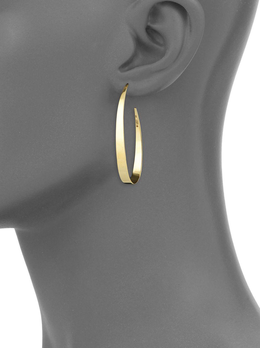 Lana Jewelry Small Gloss 14K Gold Hoop Earrings hASIYpTV