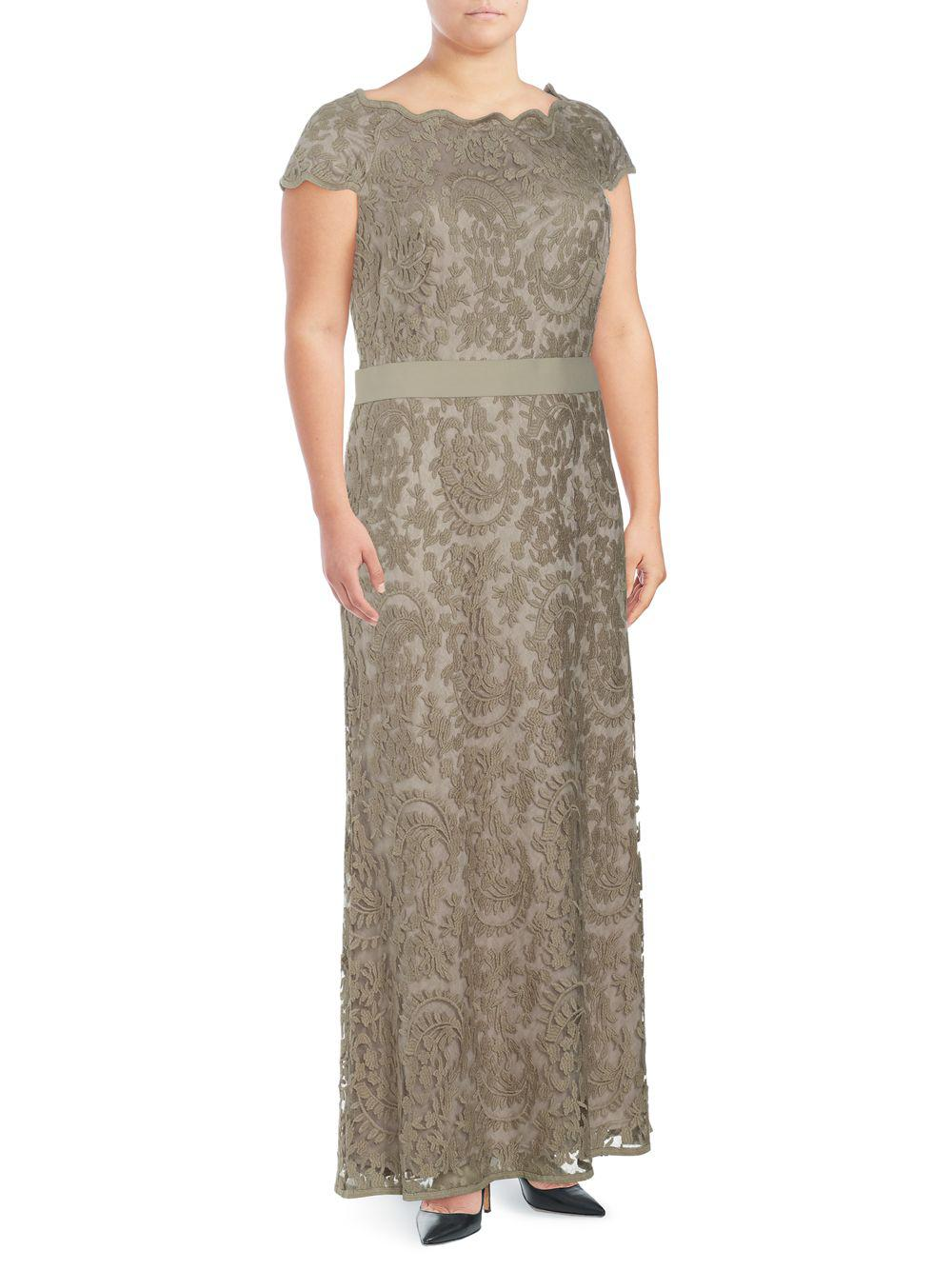 Lyst - Tadashi Shoji Embroidered Lace Floor-length Dress