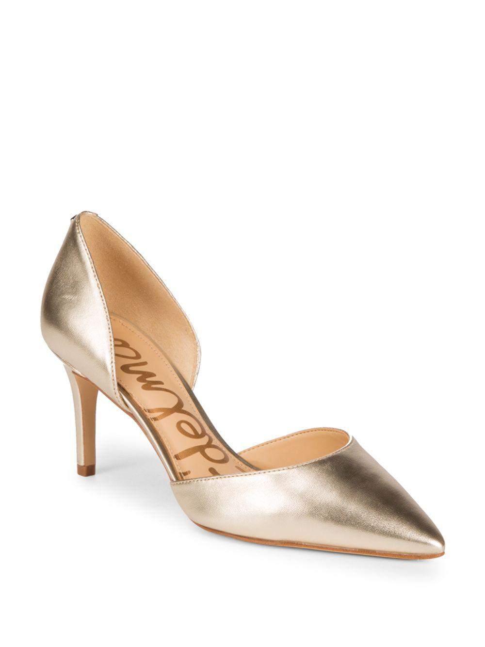 c8c90b641d Sam Edelman - Metallic Tesla Leather D'orsay Pumps - Lyst. View fullscreen