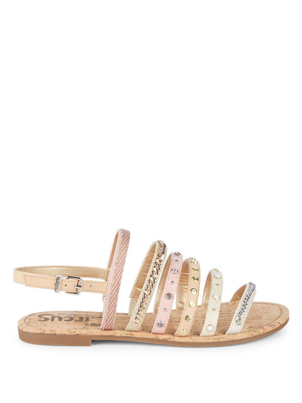 12bb7c0eb9a56d Lyst - Circus by Sam Edelman Bev Strappy Flat Sandals in Metallic