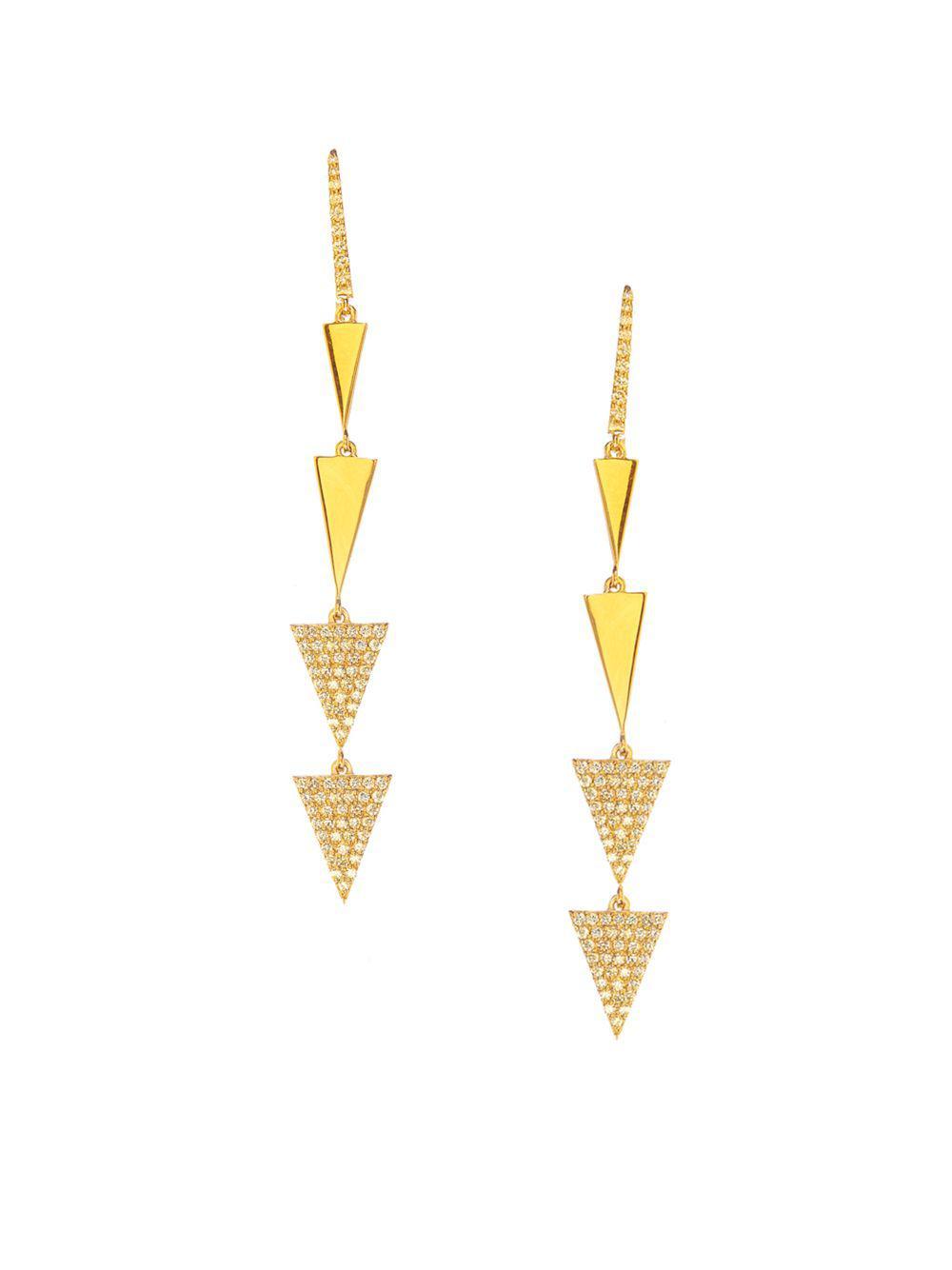 Lana Jewelry 14k Rose Gold Flawless Diamond Spike Earrings bP4jhU