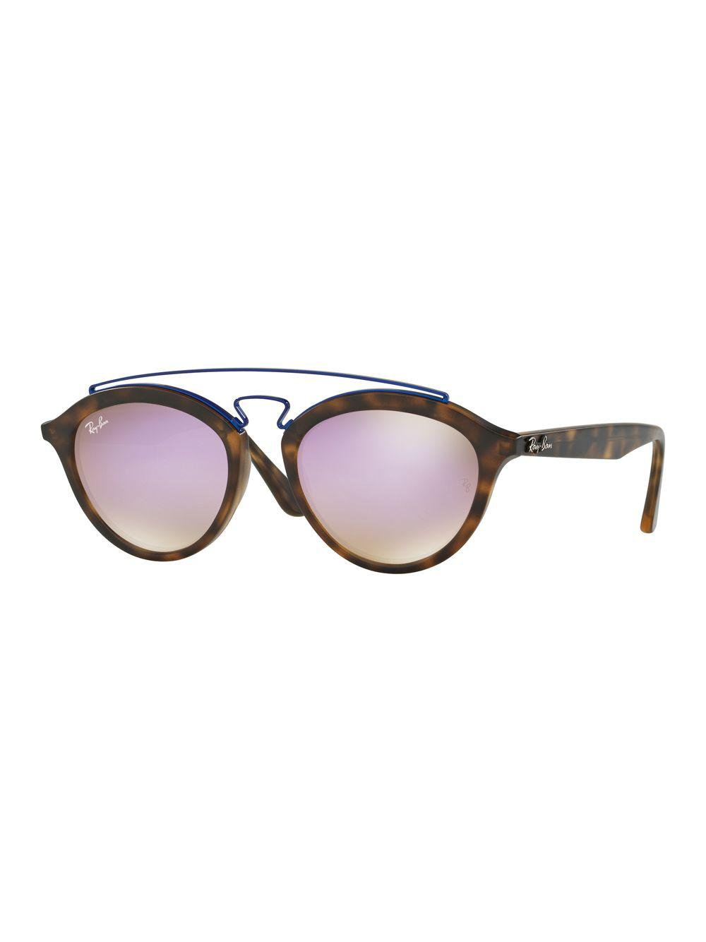 c81e8bc54ad Ray-Ban 19mm Double Bridge Gatsby Sunglasses in Brown - Lyst