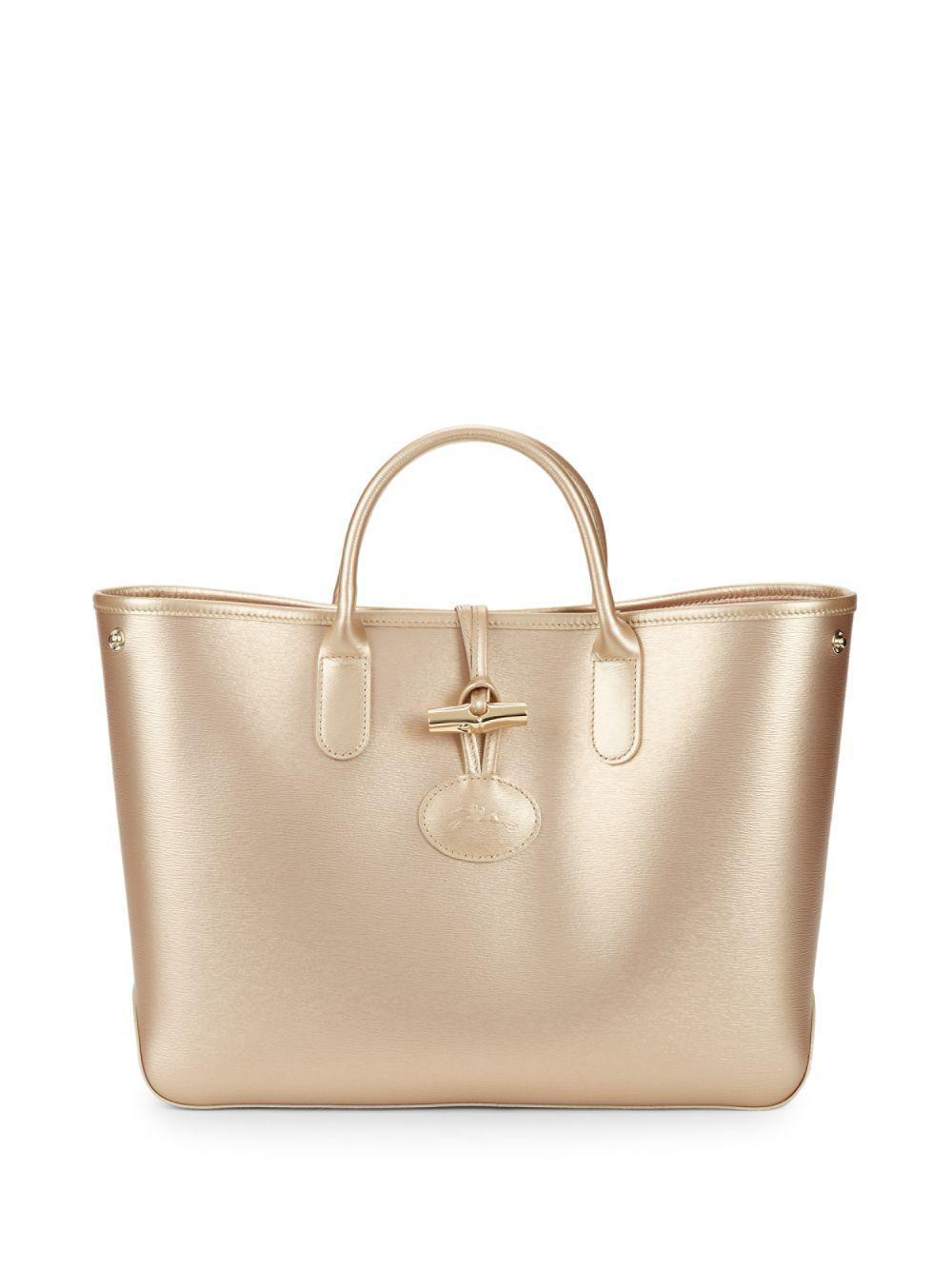 Lyst - Longchamp Small Roseau Leather Tote 6c3a31a785490