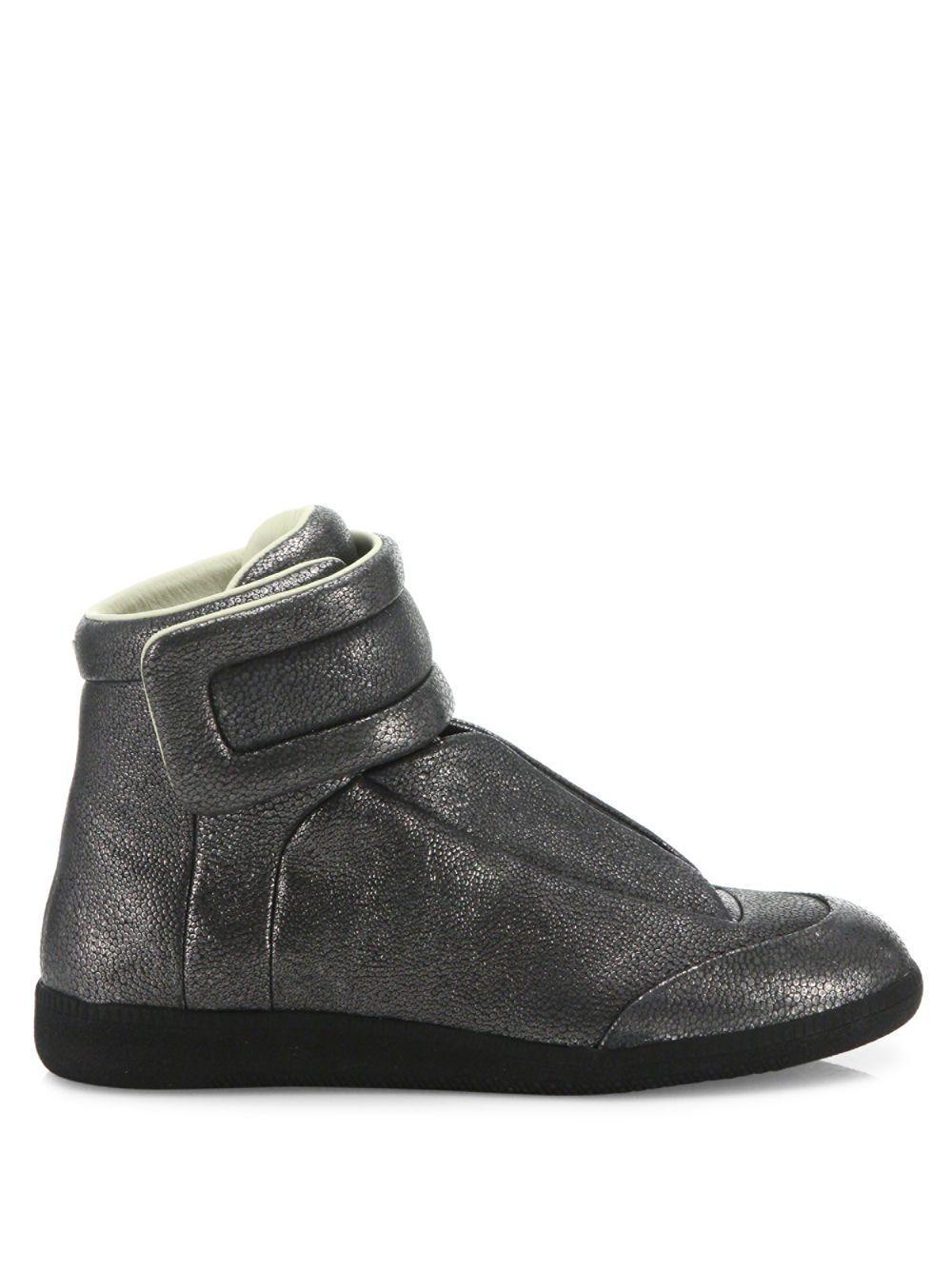 7783b8e12e1fc Lyst - Maison Margiela Stingray Future Leather High-top Sneakers in Gray  for Men