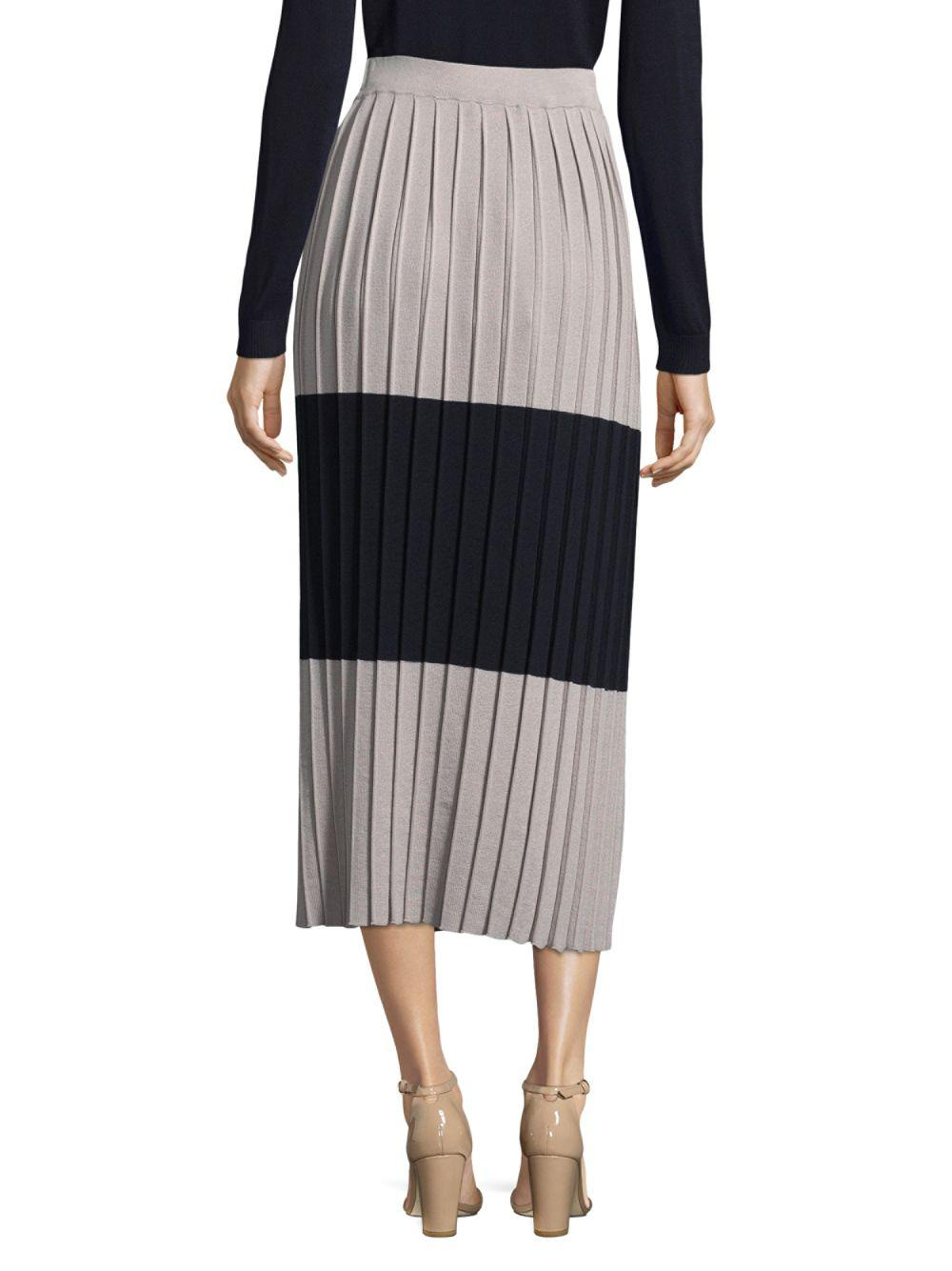 1189a4530 Lyst - Max Mara Colorblock Silk And Cotton Maxi Skirt in Gray