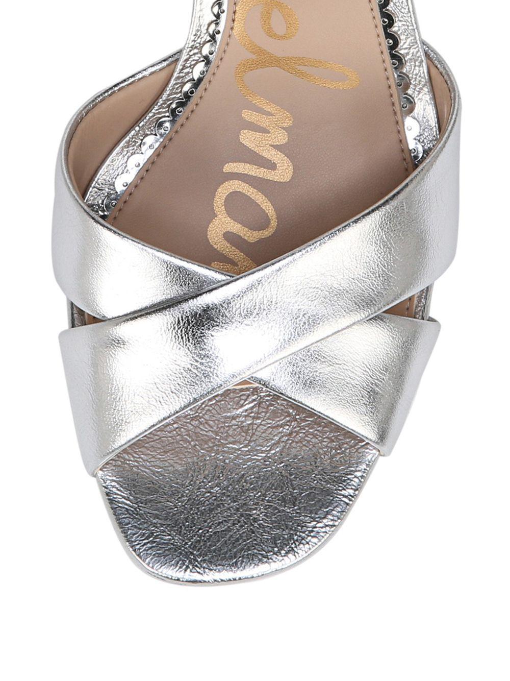64538bcc1f04 Sam Edelman - Jolene Metallic Leather Platform Sandals - Lyst. View  fullscreen