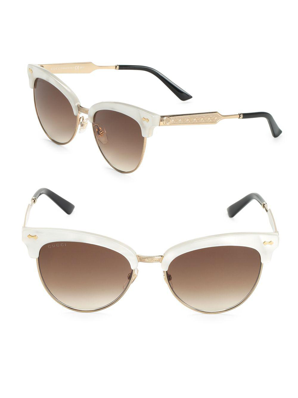 5b68096cc7 Gucci 55mm Mother-of-pearl Cat s Eye Sunglasses - Lyst